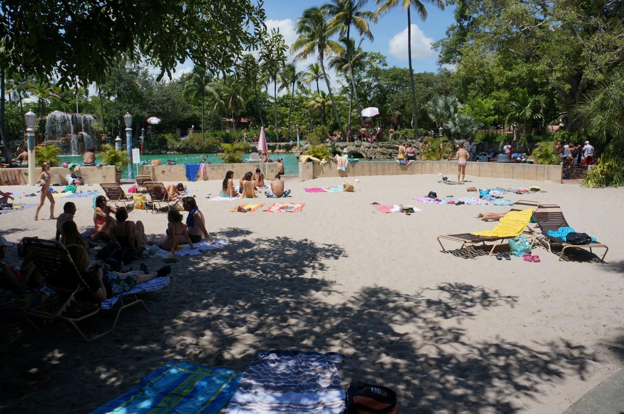 Sandy Venetian Pool Beach