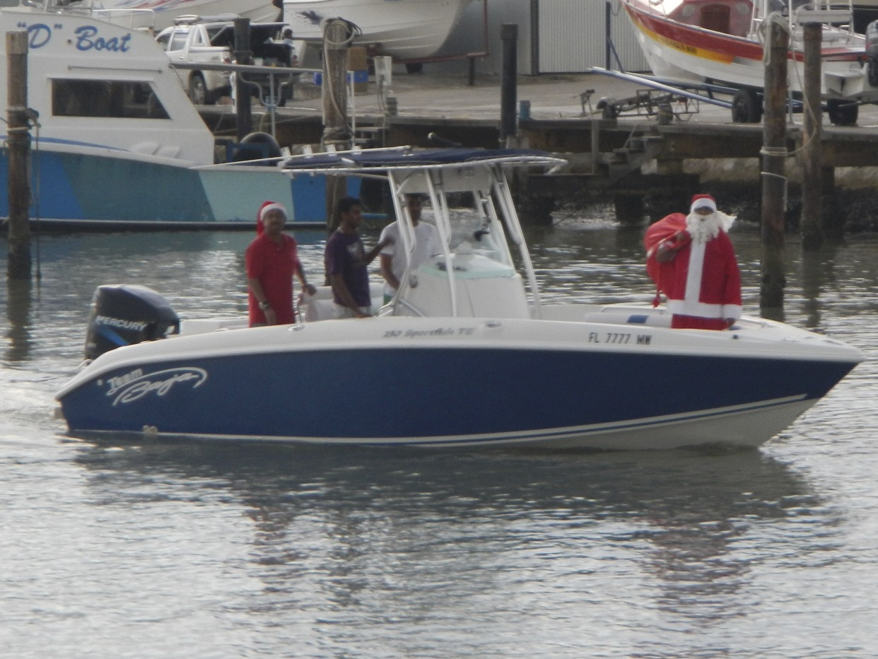 Even Santa wants to be in the Caribbean for a Trini Christmas
