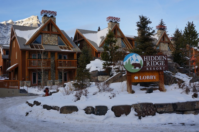 HIdden Ridge Resort Banff Review Entrance