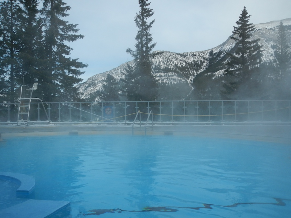 Amazing view from Banff Hot Springs