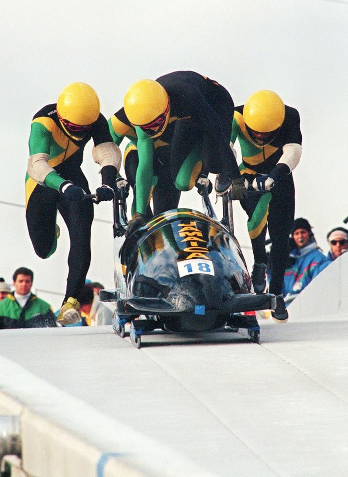 Jamaican Olympic Bobsledding Team 1988