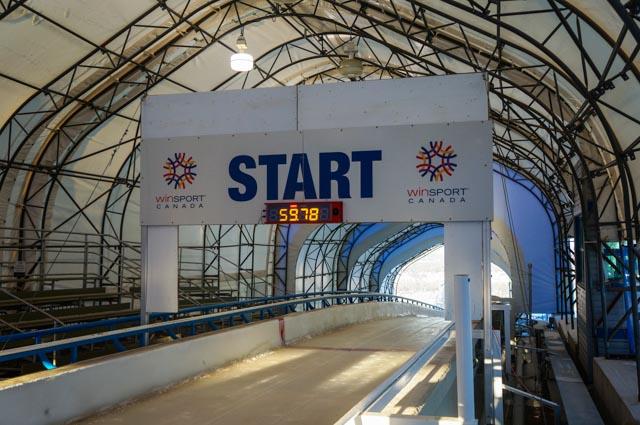 Olympic Bobsledding Starting Line