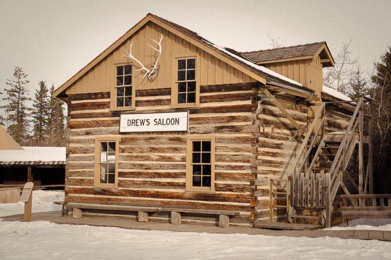 Drew's Saloon at Heritage Park