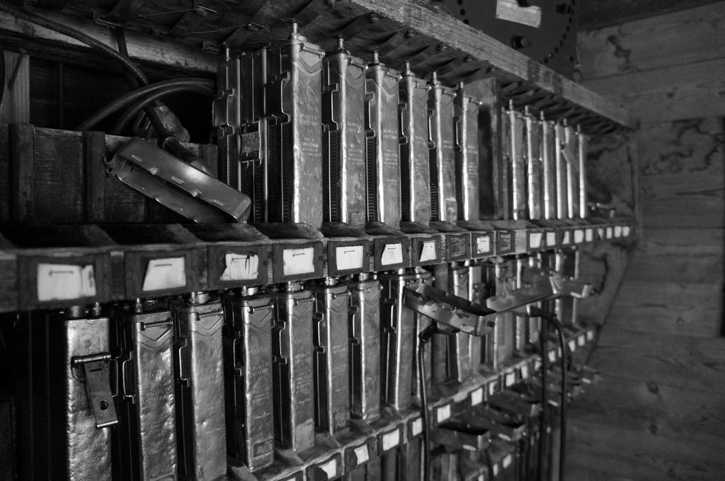 Batteries at Atlas Coal Mine