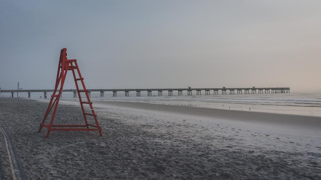 Lifeguard stand on Jacksonville Beach