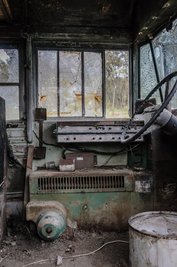 Abandoned Bus Interior