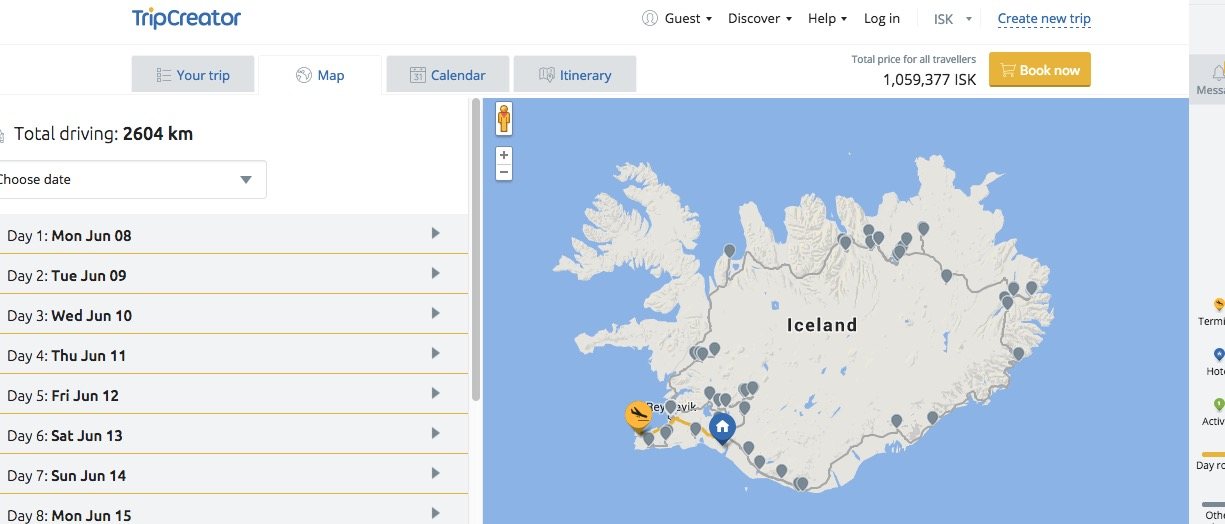 Planning the Perfect Trip to Iceland with TripCreator – World Travel Map Planner