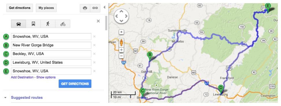 Road Trip Planner West Virginia Scenic Drives Highways