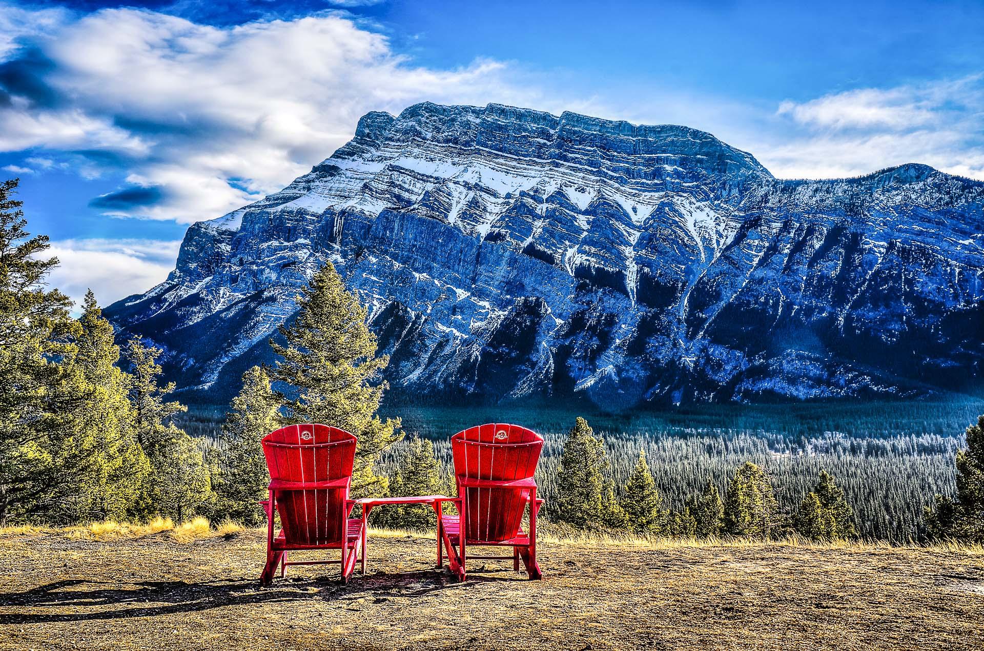 Adirondack Chairs in Banff Alberta