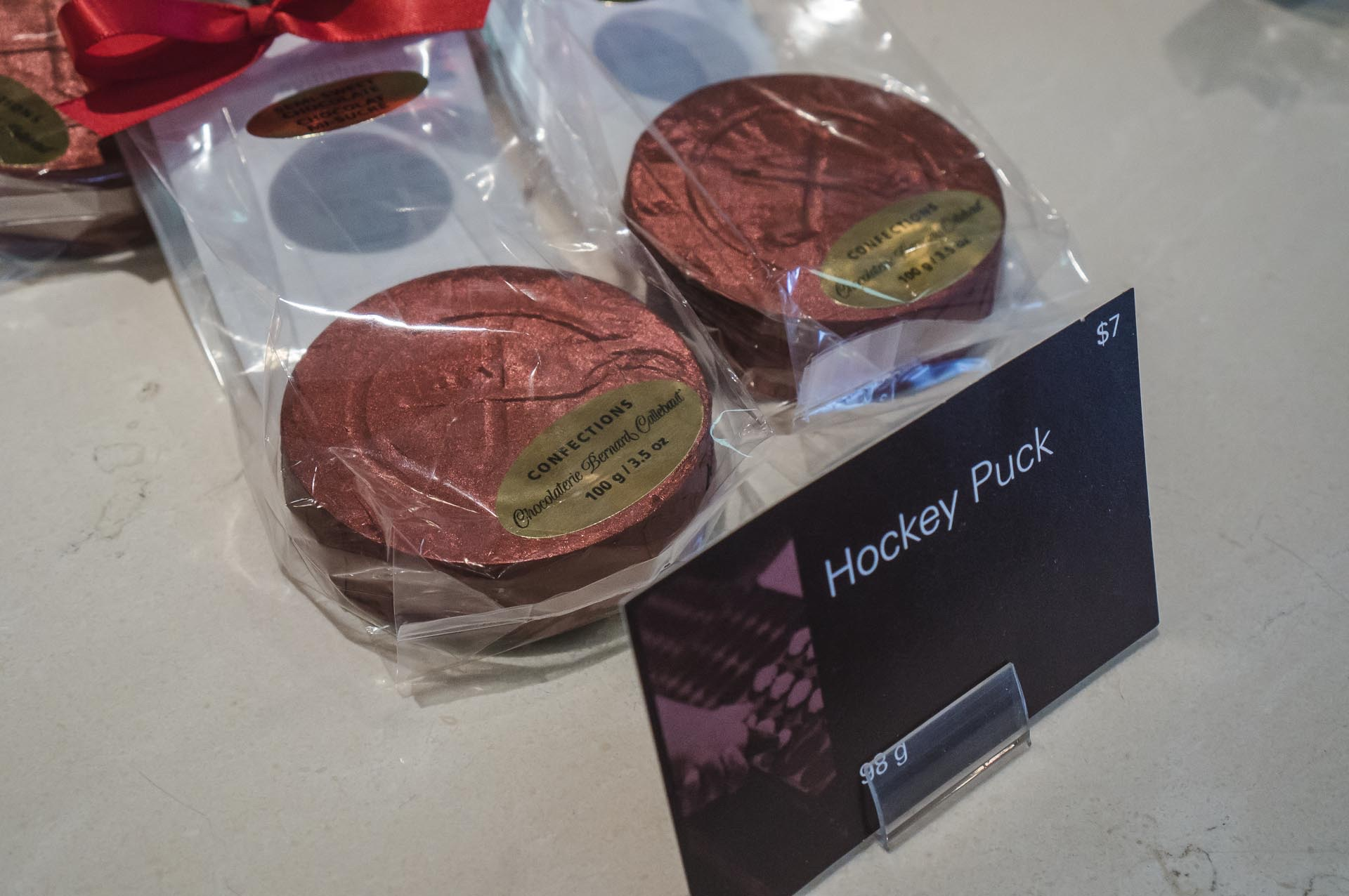 Chocolate Hockey Puck