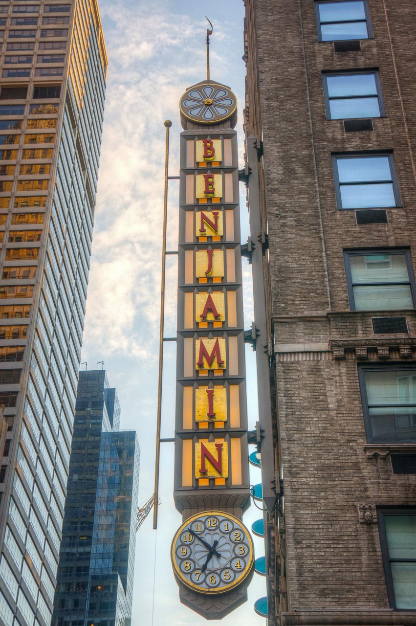 The Benjamin NYC Sign
