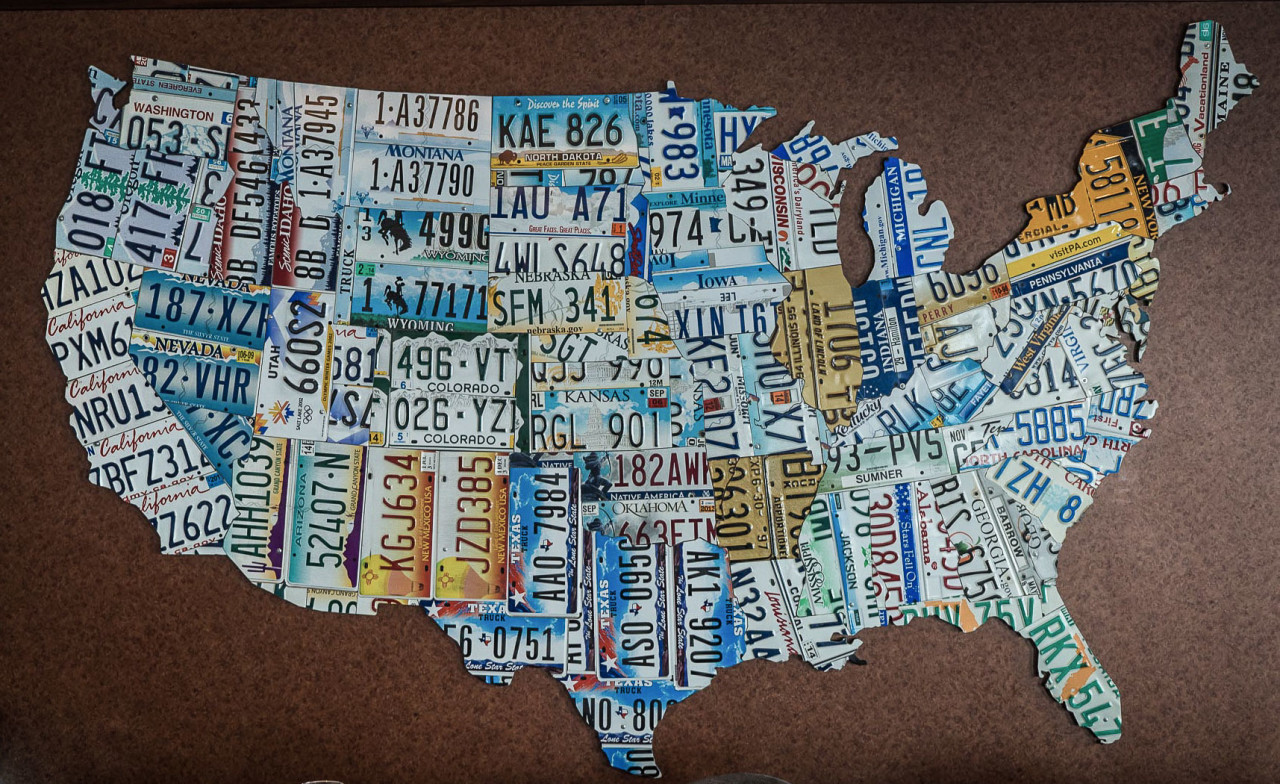 48 States license plate