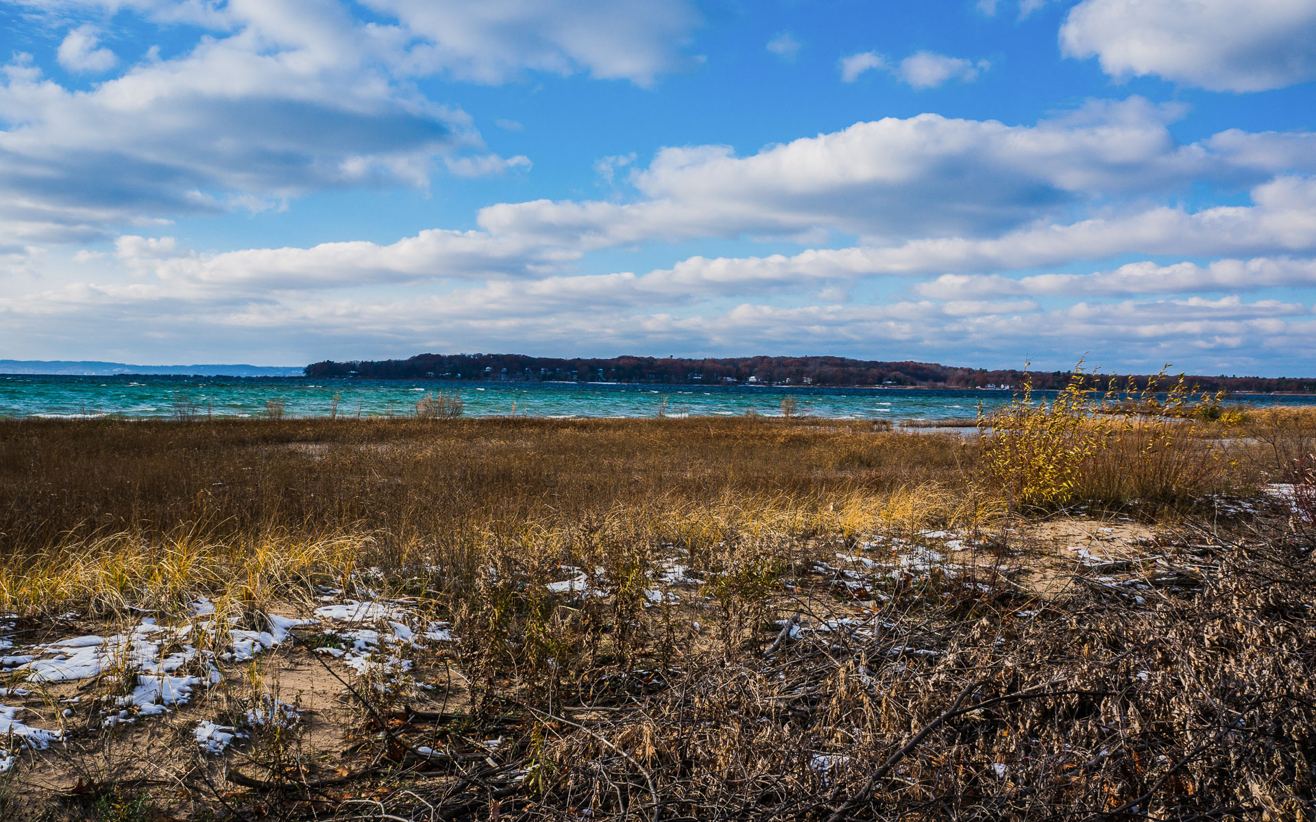 Looking over Lake Michigan - Traverse City, Michigan