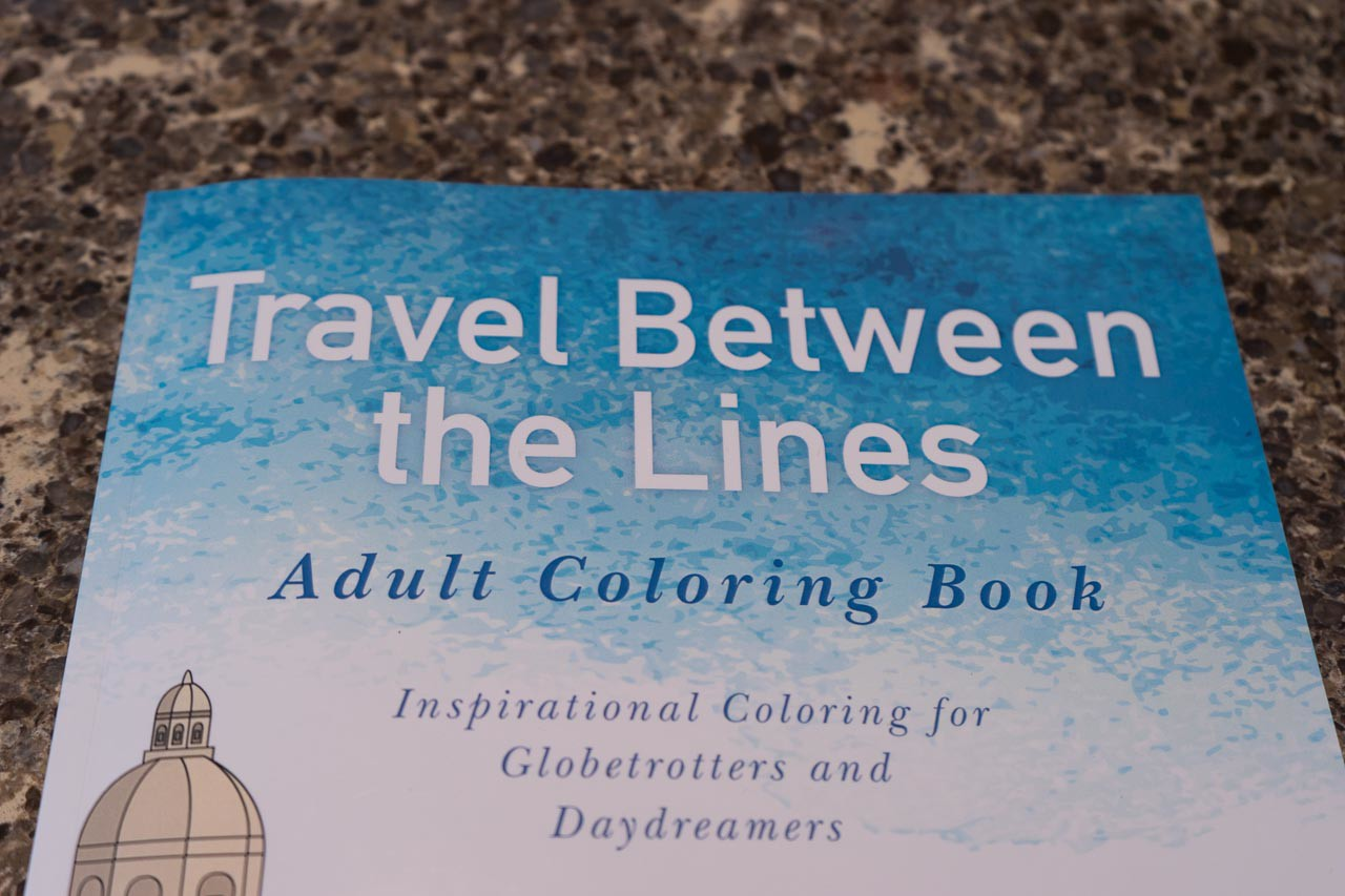 Travel Beteen the Lines Adult Coloring Book